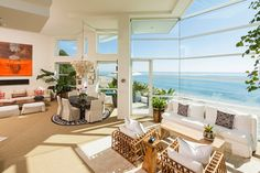 Rich decor house Malibu beach Luxurious Masterfully Crafted Paradise Cove Beach House in Malibu
