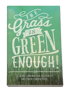 Amazon.com: Studio Oh! Guided Journal, The Grass is Green Enough Journal: Home & Kitchen