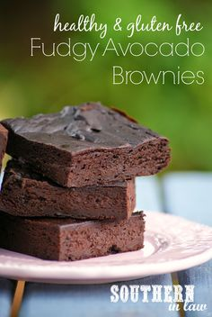 Grain Free Avocado Fudge Brownie Recipe - healthy, gluten free, flourless, paleo, low fat, lower sugar recipe