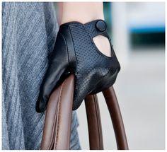 Black suede breathable short design women's genuine leather gloves driver gloves driving gloves quality genuine leather $18.94 Black Leather Gloves, Leather Accessories, Black Suede, Fashion Accessories, Sailing Gloves, Leather Gauntlet, Gloves Fashion, Mode Vintage, Sensual