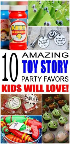 Story Party Favor Ideas Fun toy story party favor ideas that kids and teens will love. Try these simple diy toy story party favors for boys Toy Story Party, Fête Toy Story, Toy Story Theme, Toy Story Birthday, Toy Story Food, Teen Party Favors, Birthday Party Favors, Birthday Gifts, Birthday Recipes
