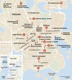 Helsinki, Finland NYT 36 Hour Map