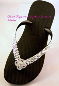4c392dc5858476 Crystal Havaianas Flip Flop flat or Cariris Wedge w  Swarovski Rhinestones  Custom Silver Filigree Bling Beach Wedding sandals Bridal Shoes
