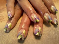47 Best Hand Painted Nail Art Images On Pinterest Cute Nails