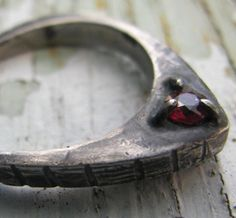 Rose Window Natural Ruby Ring in Oxidized Sterling Silver by Suzanne Rogge Designs.  $98 https://www.etsy.com/listing/124442580/rose-window-natural-ruby-ring-july?ref=shop_home_active