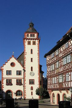 My home town - Mosbach in Germany - We got married in the town hall to the left almost 20 years ago