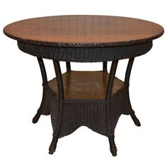 TV Room? Antique Wicker Table | From a unique collection of antique and modern center tables at http://www.1stdibs.com/furniture/tables/center-tables/