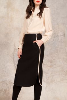 Motte pencil skirt, Malbone top FW12 #troubadour #lindseycarter