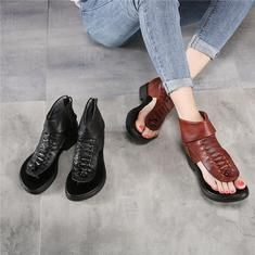 Fashion Soft Leather Low Heels Brand Women Summer Shoes Genuine Leathe– FantasyLinen Womens Summer Shoes, Sheepskin Boots, Low Heels, Leather Sandals, Soft Leather, Rome, Black And Brown, Sneakers, Fashion