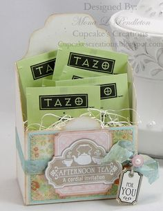 tea and cookies as party favors