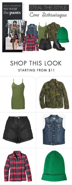 """""""Steal the style - Cara Delevingne"""" by popcake ❤ liked on Polyvore featuring BRIT*, BKE, Madewell, Topshop, Hudson Jeans, Patagonia, ASOS, Dr. Martens, StreetStyle and CaraDelevingne"""