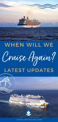 When Will We Actually Cruise Again? Latest Updates from the Cruise Lines - With the CDC recently upgrading cruise travel to a Level 4 advisory, it has many of us wondering when will we actually cruise again? #cruise #cruisetips #cruiseplanning #cruiseships #eatsleepcruise #cruisenews