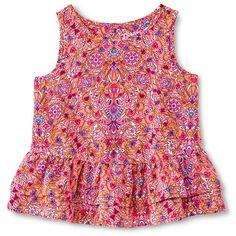 Toddler Girls' Floral Ruffle Top Pink - Genuine Kids from Oshkosh™