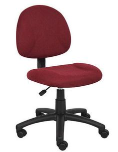 Deluxe Posture Chair Dental Office/home Use Burgundy New Arrival Home Office//study