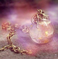 DISNEY PRINCESS TINKER BELL SNOW GLOBE BALL NECKLACE FINE HANAMADE HANDCRAFT in Jewelry & Watches   eBay