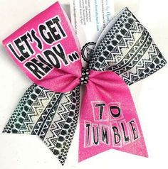 Bows by April - Let's Get Ready... to Tumble Glitter Cheer Bow, $15.00 (http://www.bowsbyapril.com/lets-get-ready-to-tumble-glitter-cheer-bow/)