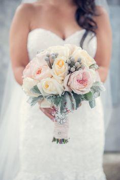 Pretty blooms make us happy. Photography: Blush Wedding Photography - www.blushweddinphotography.com, Floral Design: Balconi Floral Design Studio - www.balconi.ca  Read More: http://www.stylemepretty.com/canada-weddings/2014/04/30/traditional-ballroom-wedding-2/