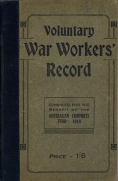 Voluntary war workers' record