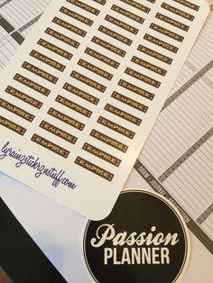 EMPIRE Sticker Strips ~ Passion Planner ~ Compact by LyRainzStickrzNStuff on Etsy