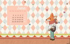 Le lapin dans la lune - Non dairy Diary: FREE printable June-2013-calendar