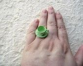 Teacup & Saucer Ring: So cute!