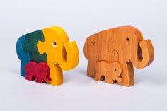 Wooden Puzzle Elephants, Wooden Elephant, Jigsaw Puzzle, Jigsaw Elephant Puzzle…
