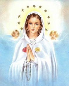 Oración a la virgen de la rosa mística para pedir por un favor urgente Blessed Mother Mary, Divine Mother, Mother Goddess, Blessed Virgin Mary, I Love You Mother, Catholic Pictures, Praying The Rosary, Queen Of Heaven, Mama Mary