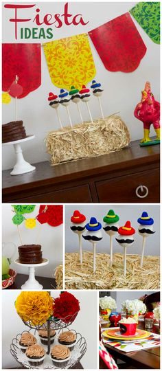 What a fun fiesta with big sombrero hats and margaritas! See more party ideas at CatchMyParty.com!