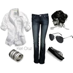 So me. Classy and casual...minus those ugly cheap flip flops.... I'd pair it with some cute flats.