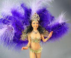"OOAK doll ""Samba girl"" by Natascha Farber Mini-figuren.com"