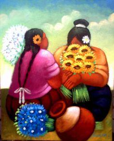 Resultado de imagen para cuadros y laminas africanas Native Art, Native American Art, Mexican Paintings, Peruvian Art, Cuban Art, Mexico Art, Silk Art, China Painting, Mexican Folk Art