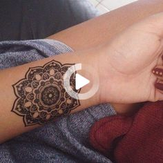 Mandala wrist tattoo.  Follow my 2nd account: @inkspiringtattoos @inkspiringtattoos! #wristtattoos Cute Tattoos On Wrist, Wrist Tattoos For Women, Ankle Tattoos, Tattoos For Women Small, White Tattoos, Mandala Wrist Tattoo, Butterfly Wrist Tattoo, Flower Wrist Tattoos, Small Bird Tattoos