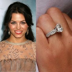 Now thats a gorgeous ring:  Channing Tatum popped the question to Jenna Dewan with this brilliant cut Neil Lane engagement ring while vacationing at the Four Seasons Maui at Wailea.Photo: Flynet Pictures