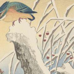 IJsvogel in de sneeuw, Ohara Koson, 1925 - 1936 - Winterlandschappen-Collected Works of barkcloth - All Rijksstudio's - Rijksstudio - Rijksmuseum