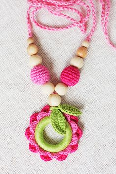 Teething necklace/ Nursing necklace for Mommy by NecklacesForMommy