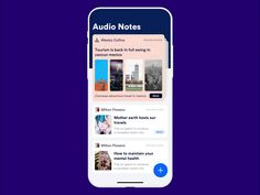 Audio to text notes designed by Johny vino™. Connect with them on Dribbble; Ui Design Mobile, Design Ios, Class Design, Notes Design, Overseas Adventure Travel, Ui Design Patterns, Twitter Design, Mobile App Ui, Ui Design Inspiration