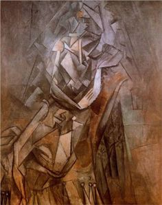 """Woman Sitting in an Armchair"".Artist: Pablo Picasso Completion Date: Style: Analytical Cubism Period: Cubist Period Genre: portrait. Picasso Portraits, Picasso Art, Picasso Paintings, Henri Matisse, Henri Rousseau, Piet Mondrian, Paul Gauguin, Henri Cartier, Cubist Movement"