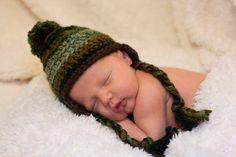 Crochet Camo Baby Hat Toboggan Beanie by TheTwistedK on Etsy, $18.00