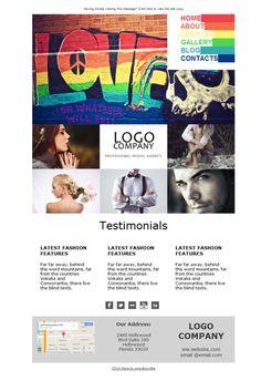 Como lucen los modelos en esta campaña elaborada con las plantillas newsletter de Mailify, así encontrarán castings a la primera!