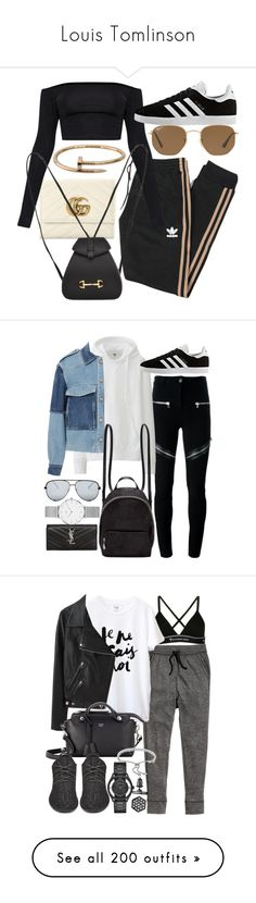 """""""Louis Tomlinson"""" by veronice-lopez ❤ liked on Polyvore featuring Gucci, adidas Originals, adidas, Ray-Ban, Cartier, Givenchy, Uniqlo, Yves Saint Laurent, Rebecca Taylor and STELLA McCARTNEY"""