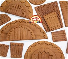 emboss Gingerbread House Doors and other parts before baking