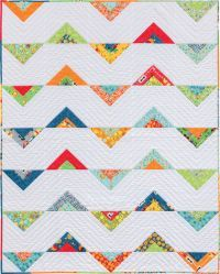 I dig the alternating triangles in this strip quilt. Pattern from Martingale's Strip-Smart Quilts II.