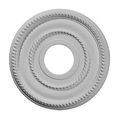 Ekena Ceiling Medallion. 12-1/8 in. OD x 3-5/8 in. ID x 3/4 in. P Valeriano Ceiling Medallion CM162918