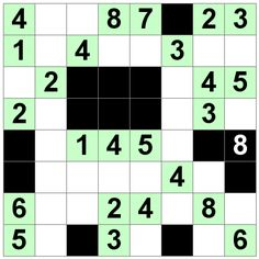 Number Logic Puzzles: 20633 - Str8ts size 8