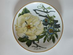 Sierra Club Franklin Collector Plate, 1978 - Mississippi Delta Wildflowers
