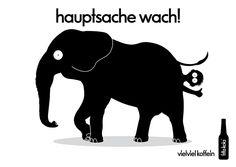 fritz-kola. hauptsache wach! fritz-kola, agentur, artwork, rocket + wink, design, 2014, elefant, arsch, schirm, surfer, mops