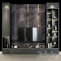3d models: TV Wall - TV Wall 88 Modern Tv Room, Modern Tv Wall Units, Living Room Modern, Living Room Interior, Home Living Room, Modern Wall, Living Room Wall Units, Living Room Tv Unit Designs, Wall Unit Designs