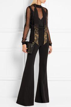 Alexander McQueen Embellished silk scarf $865 Black silk 100% silk Dry clean Made in Italy