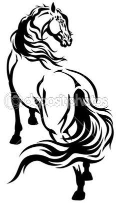 Tribal Horse Stencils Tribal horse tattoo stencil