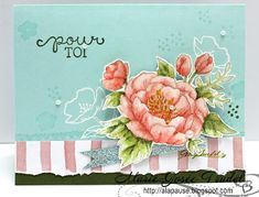 A La Pause: Around the World Stampin' Up! Blog Hop - Fleurs d'Anniversaire - Birthday Blooms